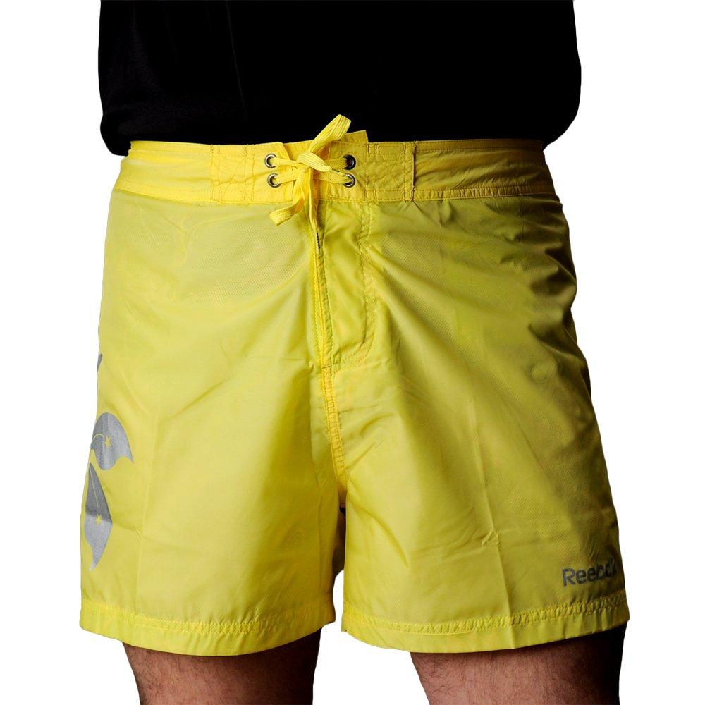 Details zu Reebok Flower Boxer Herren Badeshorts Schwimmen Gelb Polyester Shorts S