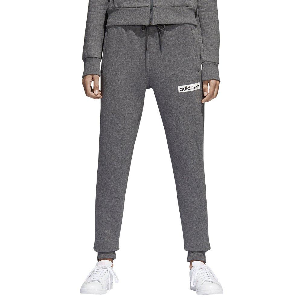 Adidas Regular Cuffed Track Pant Damen Hose Originals Trefoil Sweathose Grau