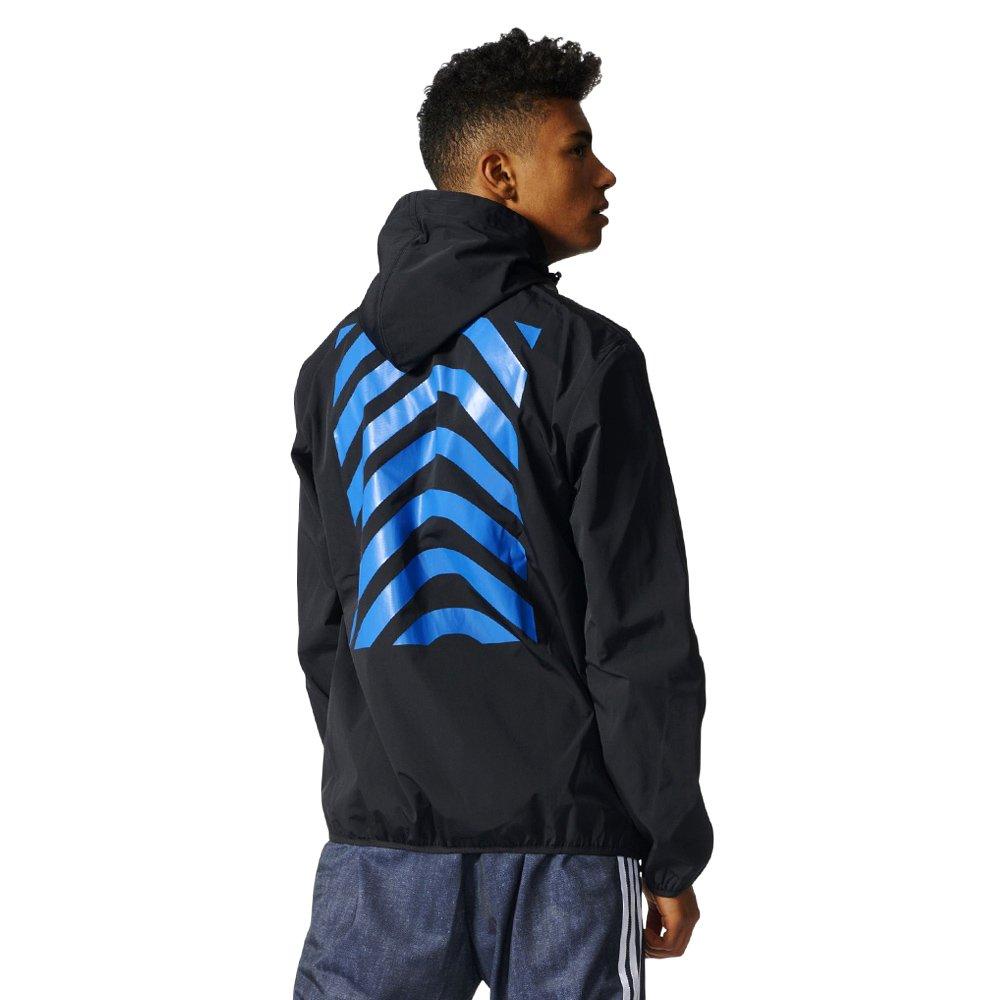 Details zu Herren Adidas Originals New York City Harringbone Windbreaker jacke schwarz