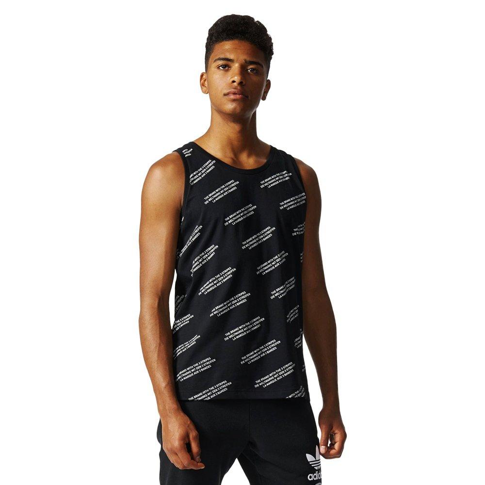 9f61f6800c21bd Herren Adidas Originals Trefoil Allover-print Tank Top Ärmellos 100%  Baumwolle