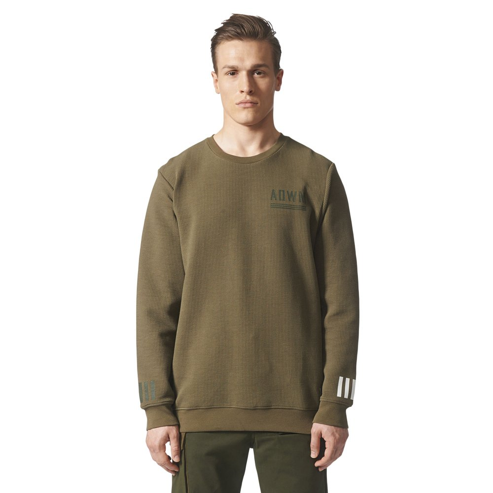 Details about Adidas Originals Herren White Mountaineering Crew Sweater  Sweatshirt Olive 62720f94d6b