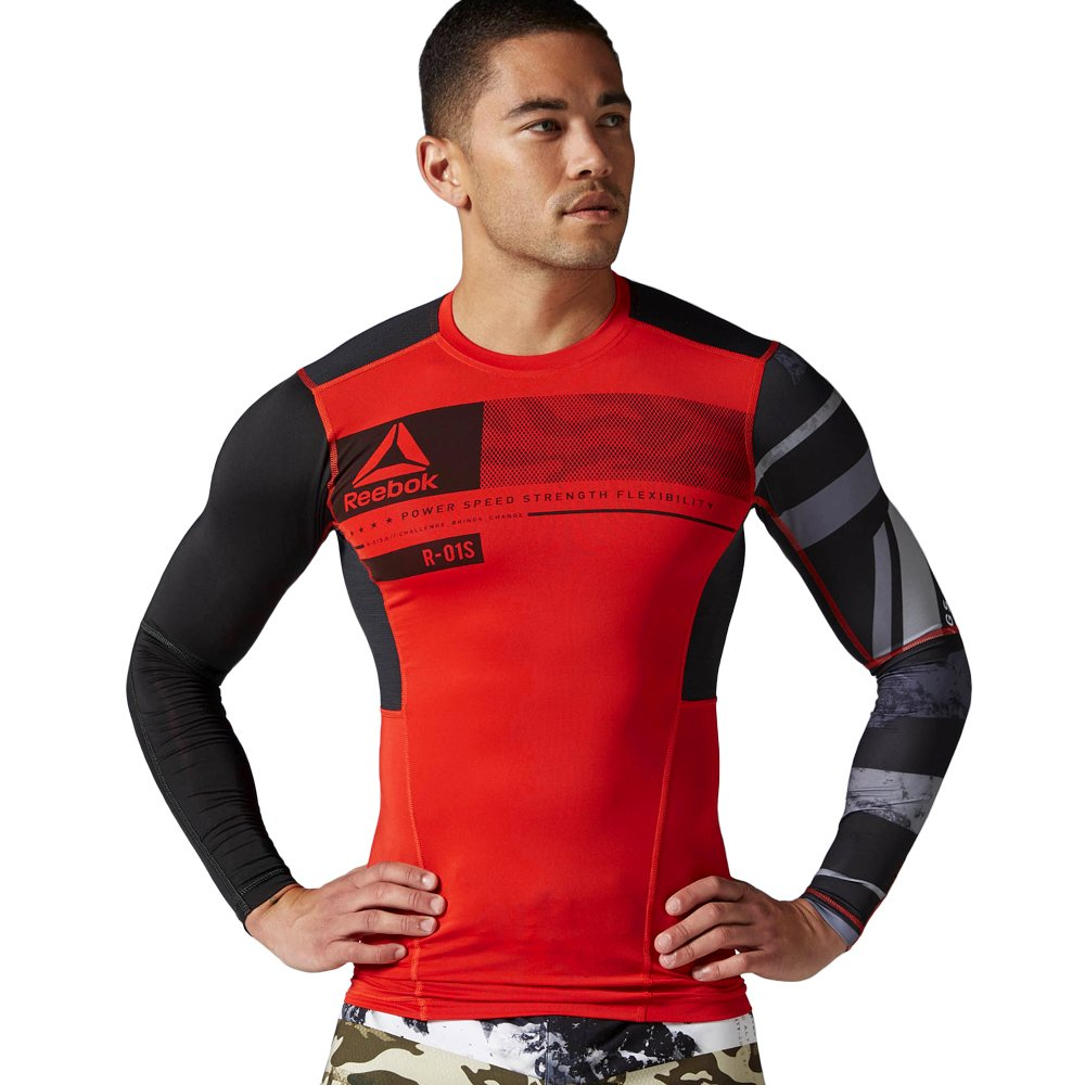 Details about Reebok One Series activchill Long Sleeve Compression Mens Long Sleeve Shirt show original title
