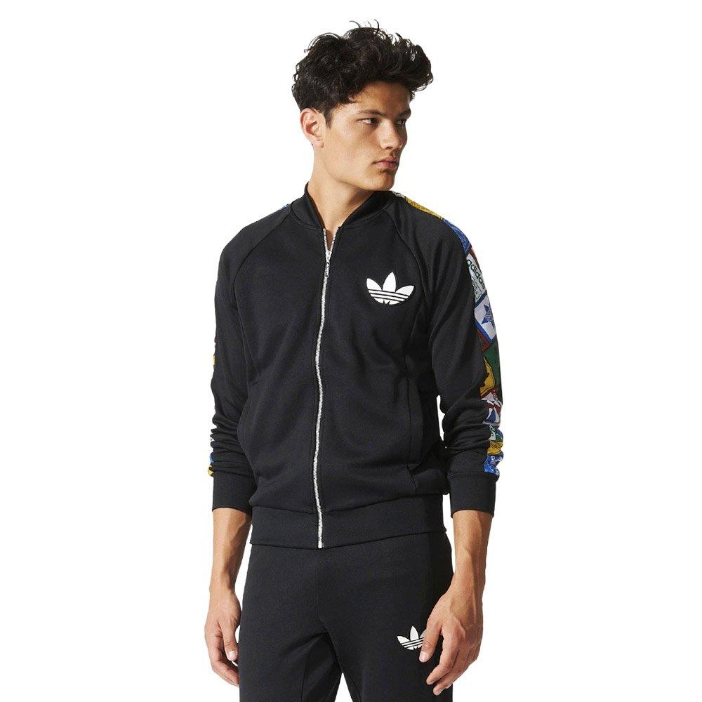 Details about Adidas Originals Tape Label Superstar Track Jacket Mens Jacket Schwartz show original title